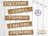 July 4th Patriotic Sign Makers Bundle - SVG