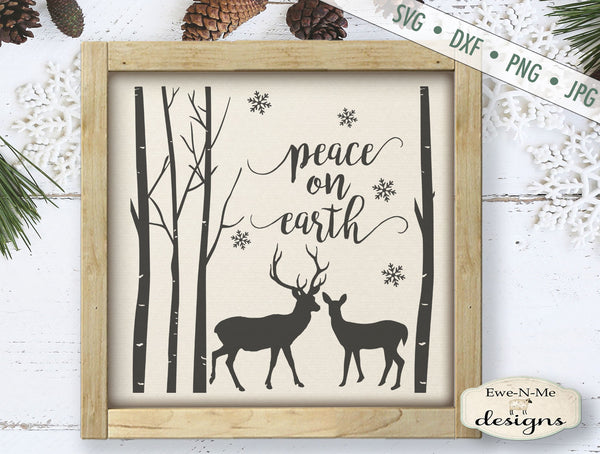 Peace on Earth Deer Woods - SVG