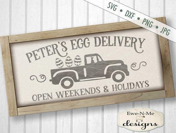Peter's Egg Delivery Old Truck - SVG