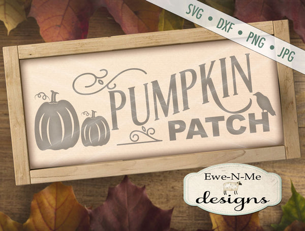 Pumpkin Patch Crow - SVG