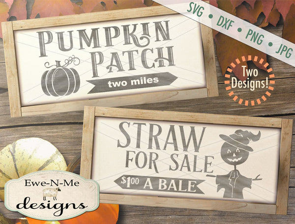 Pumpkin Patch - Straw For Sale - SVG