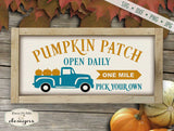 Pumpkin Patch - Old Truck - SVG