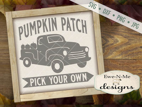 Pumpkin Patch Truck - SVG