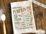 Pumpkin Pie Recipe - Fall - SVG