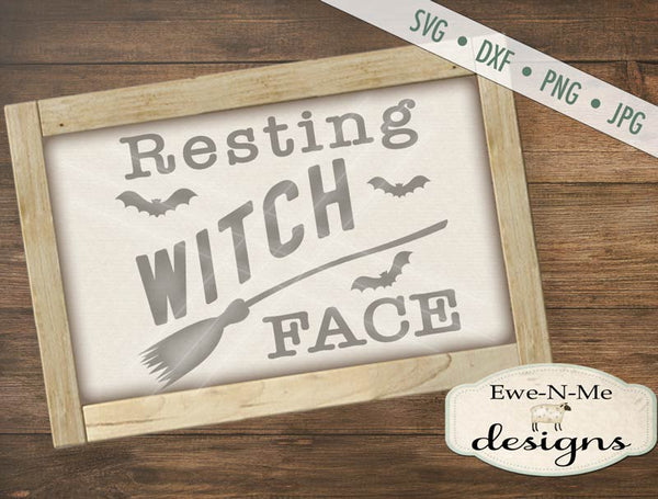 Resting Witch Face - SVG