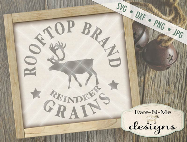 Rooftop Reindeer Grains - SVG