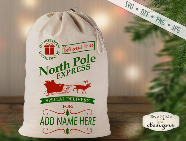 Santa Sack North Pole - SVG
