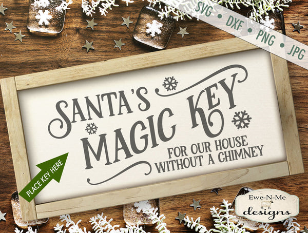 Santas Magic Key - SVG