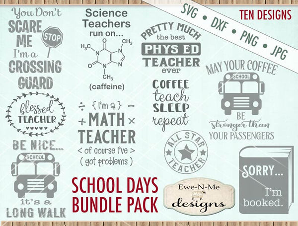 School Days Bundle - SVG