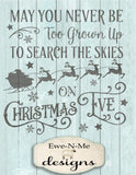 Search the Skies on Christmas Eve - SVG