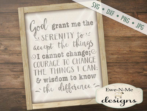 Serenity Prayer - SVG