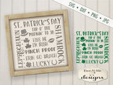 St Patricks Day Subway Design - SVG