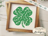Shamrock with Swirls - SVG