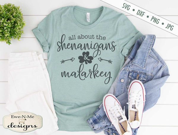 Shenanigans and Malarkey - St Patrick's Day - SVG
