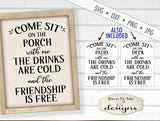 Sit On The Porch with Me - Deck Patio  - SVG