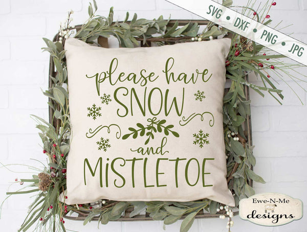 Snow and Mistletoe - Christmas - SVG