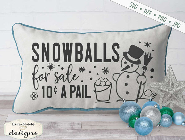 Snowballs For Sale - Winter - Christmas - SVG