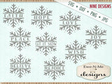 Split Snowflake Bundle Pack - SVG