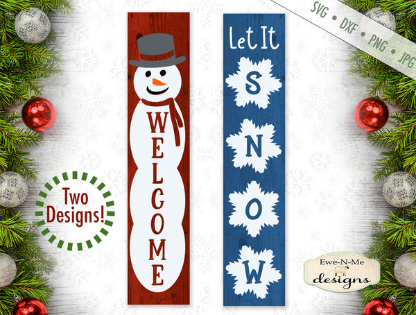 Welcome Snowman - Let It Snow - Winter - Vertical - SVG