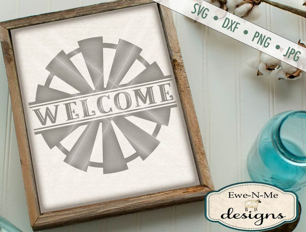 Welcome Split Windmill - SVG