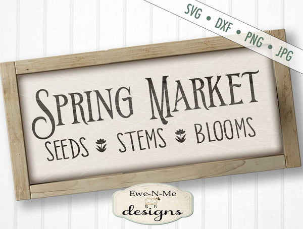 Spring Market Seeds Stems Blooms - SVG