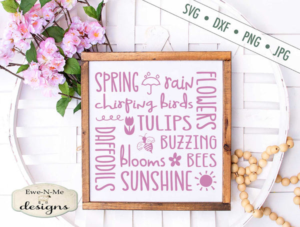 Spring Subway - Flowers - Sunshine Rain - SVG