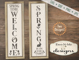 Spring Welcome and Spring In The Air Vertical - SVG