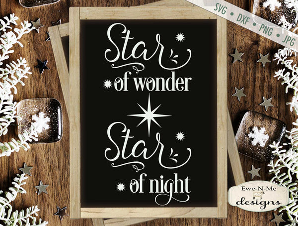 Star of Wonder - Star of Night - Christmas - SVG