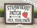 Strawberry Patch - Pick Your Own - SVG