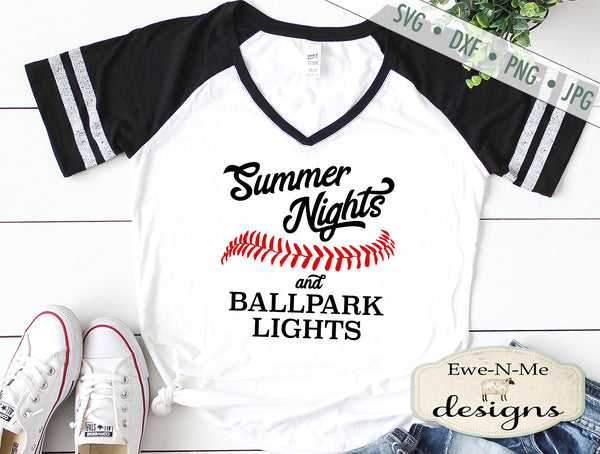 Summer Nights Ballpark Lights - SVG