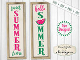Sweet Summer Vertical Porch Sign - SVG
