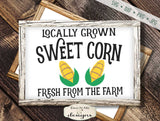 Sweet Corn - Locally Grown - SVG