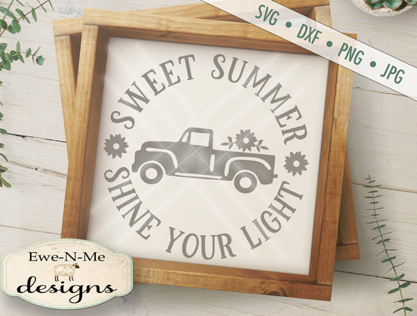 Sweet Summer Truck Round - SVG