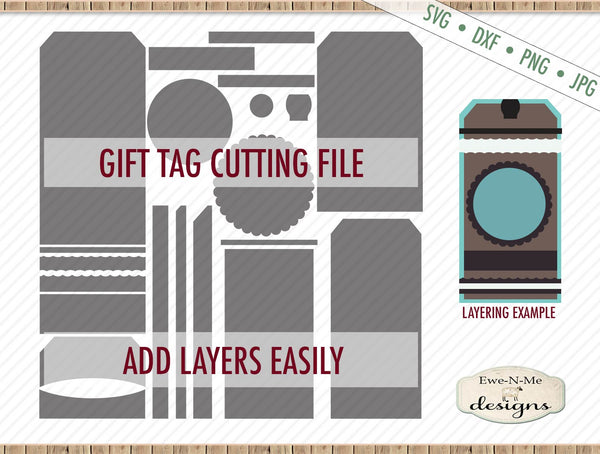 Gift Tag Cut File w/ Angled Top - SVG