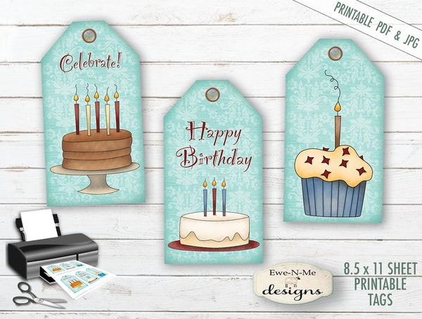 Happy Birthday Tags - PRINTABLE