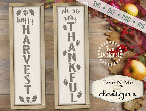Harvest Thankful Vertical - SVG