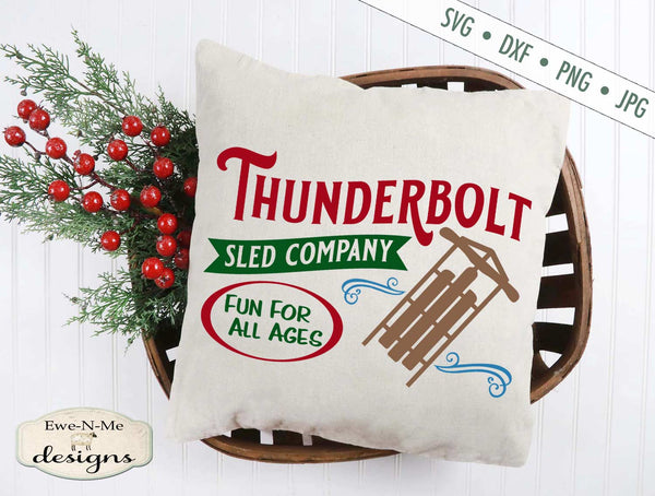 Thunderbolt Sled Co - Christmas Winter - SVG