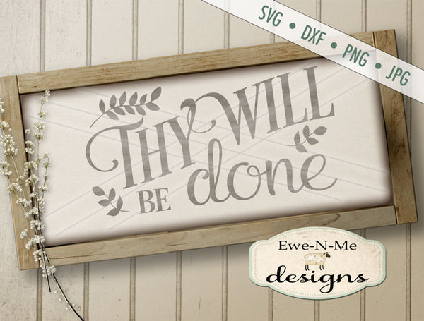 Thy Will Be Done - SVG