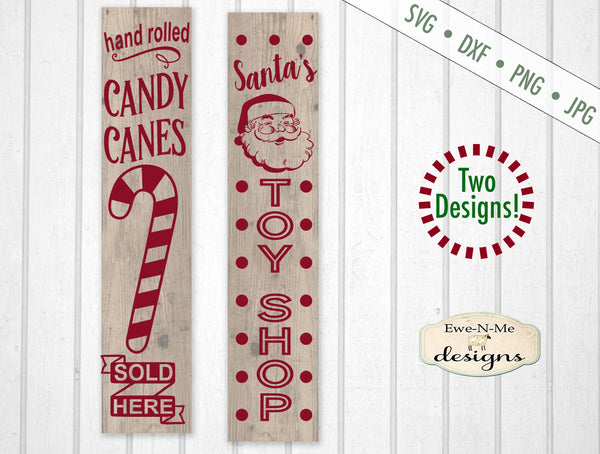 Candy Canes - Toy Shop - Vertical Christmas - SVG