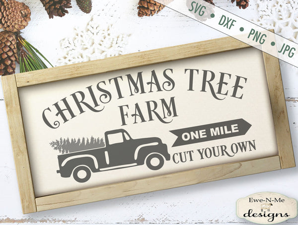 Christmas Tree Farm Horizontal - SVG