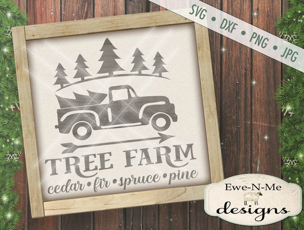 Tree Farm Truck - SVG