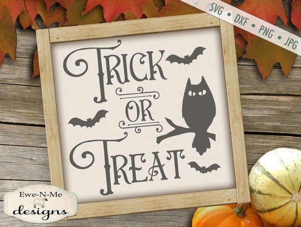 Trick or Treat Owl Bats - SVG