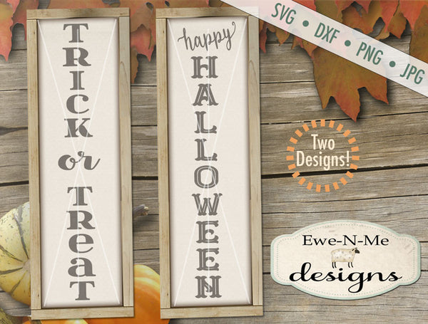 Trick or Treat - Happy Halloween Vertical - SVG