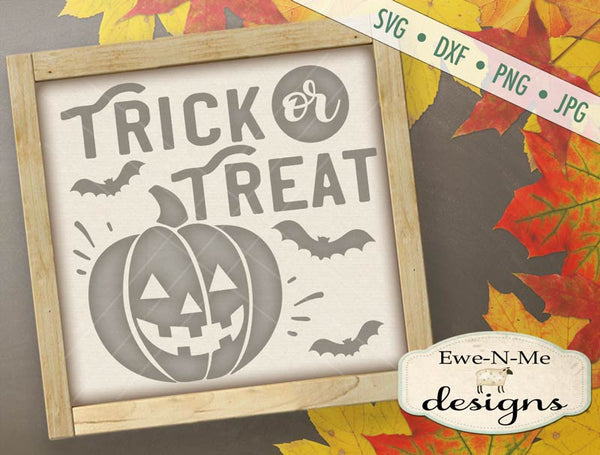 Trick or Treat Jack O Lantern - SVG