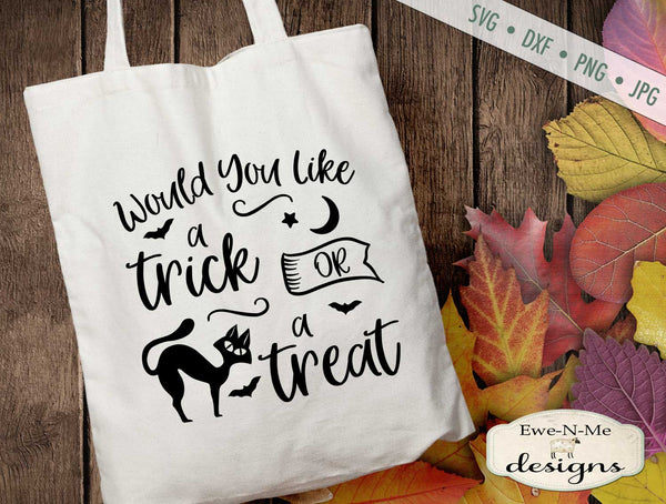 Trick or Treat - Black Cat - SVG