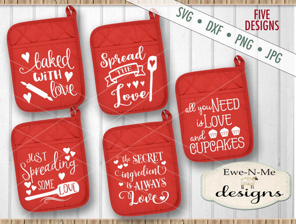 Valentine Pot Holder Bundle - SVG