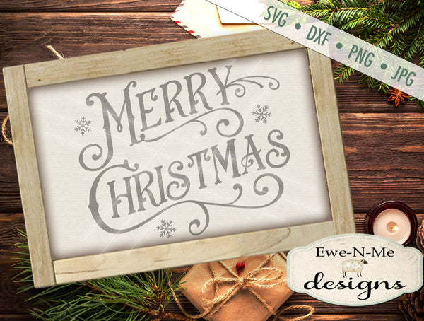 Victorian Merry Christmas - SVG