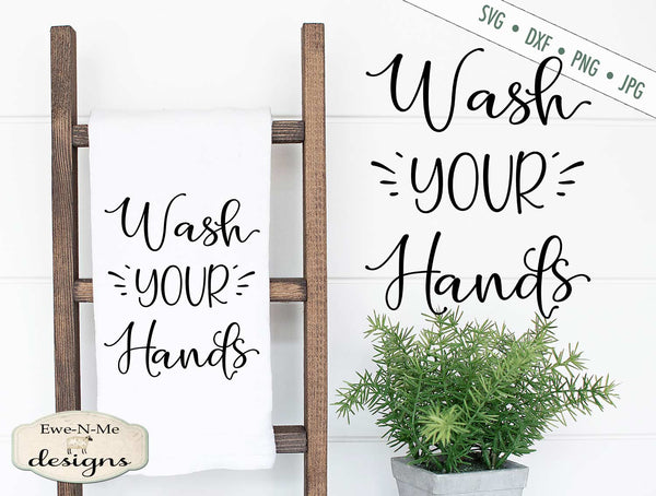 Wash Your Hands - Bathroom - SVG