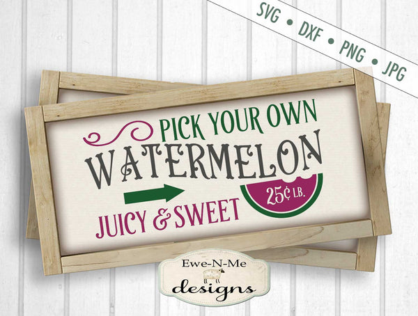 Watermelon - Pick Your Own - SVG