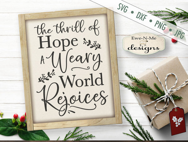 Weary World Rejoices - SVG